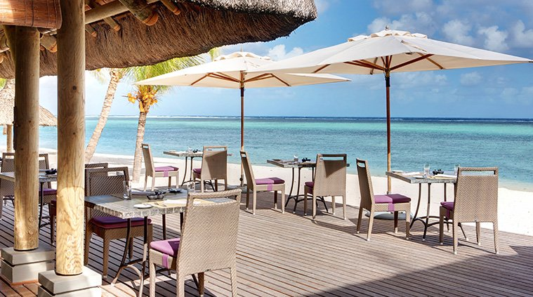 restaurant plage hotel lux le morne ile maurice