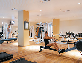 gym Le Victoria hotel pointe aux piments